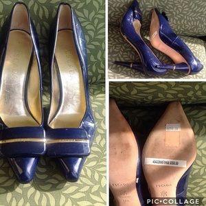 Escada blue heels 37.5